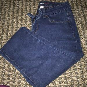 Curvy Fit Petite Blue Jeans